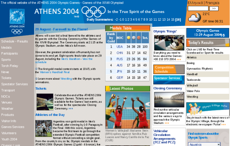 ATHENS 2004 Official Olympic Games Site