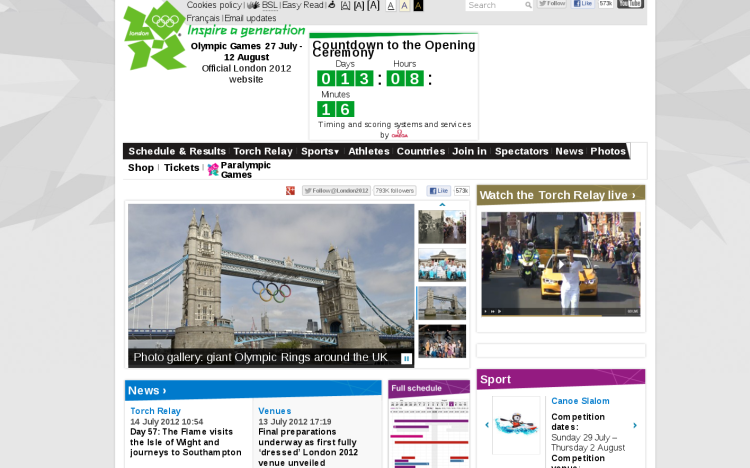 London 2012 Official Olympic Site
