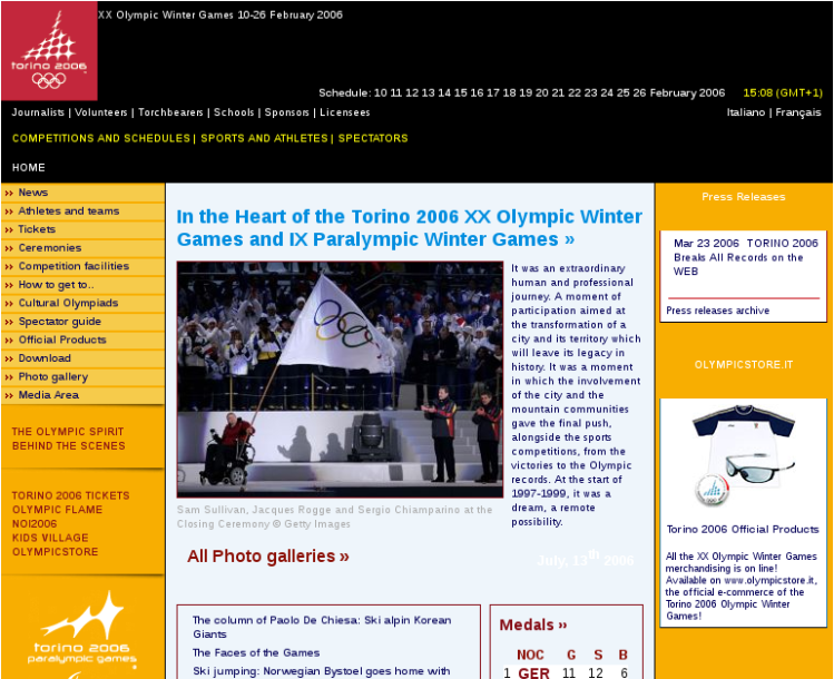 Torino 2006 Official Olympic Winter Games Site