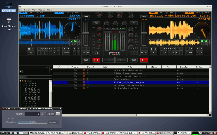 Mixxx with Super Cross Fader